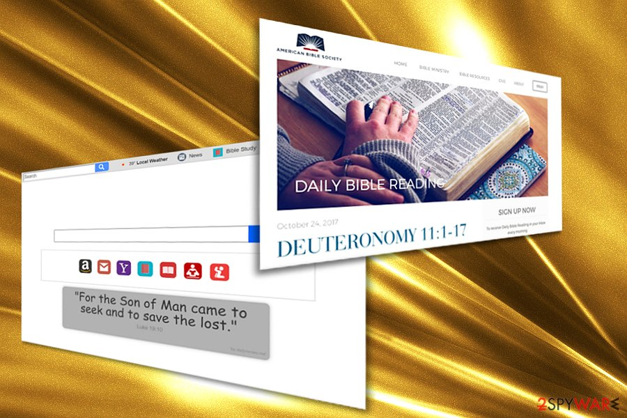 The screenshot of Dailybibleverses.co hijacker