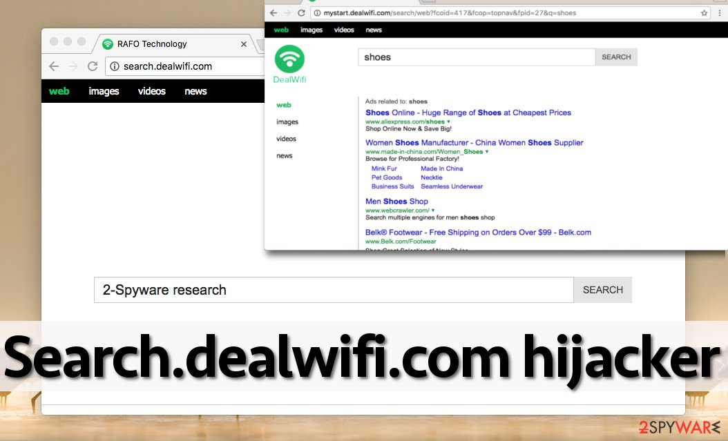 Screenshot of Search.dealwifi.com browser hijacker