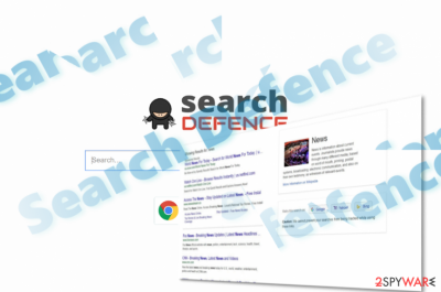 The image of Search Defence main page