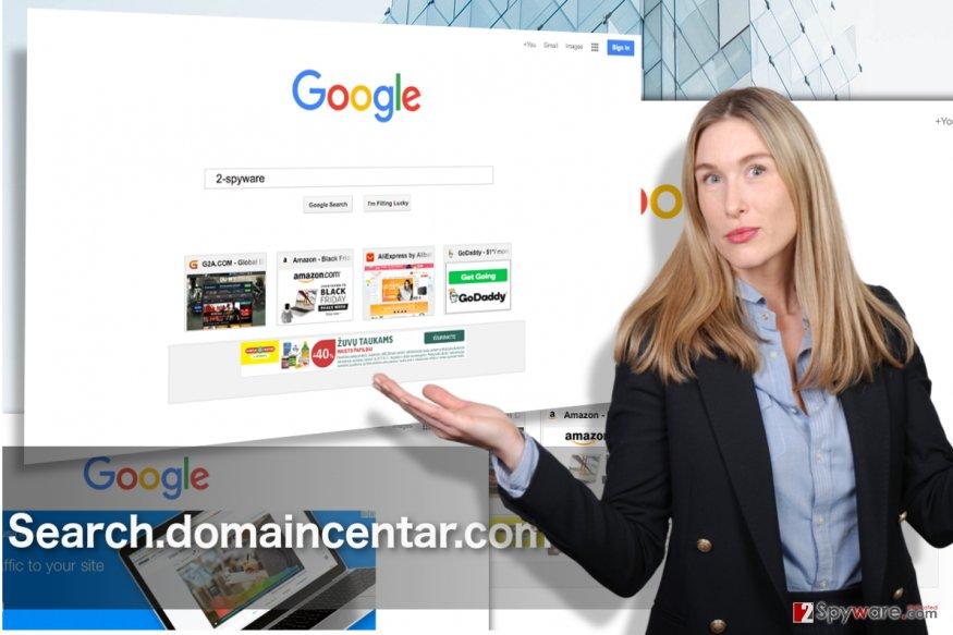 Search.domaincentar.com hijacker illustration