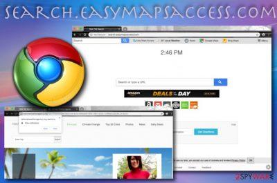 Search.easymapsaccess.com browser hijacker