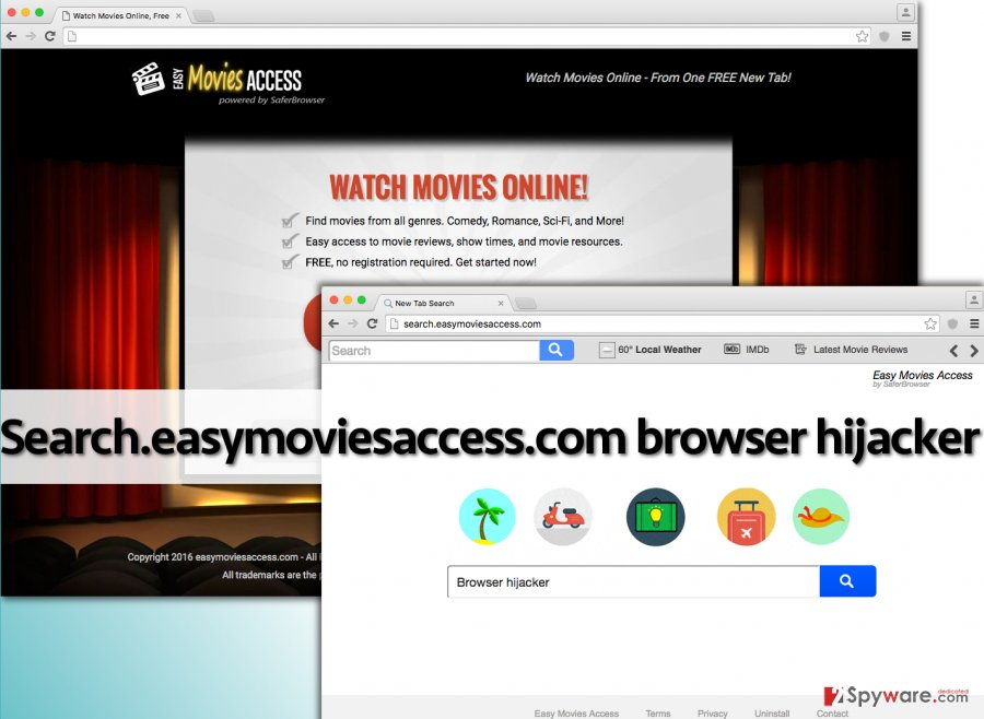 Search.easymoviesaccess.com redirect virus
