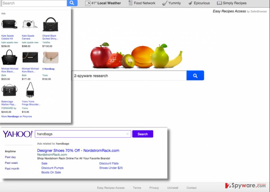 Search.easyrecipesaccess.com virus