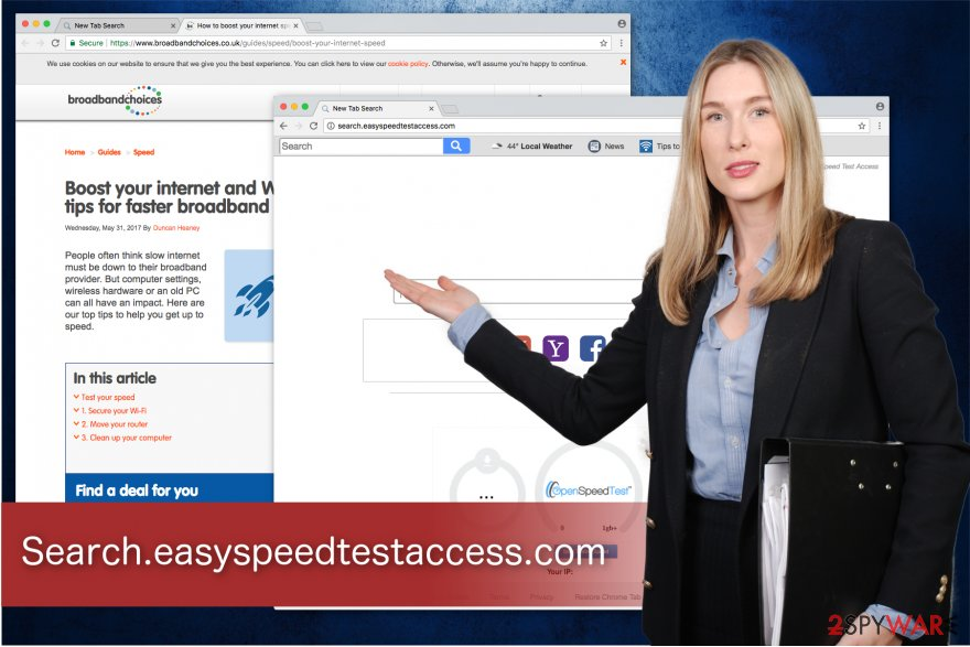 Search.easyspeedtestaccess.com PUP