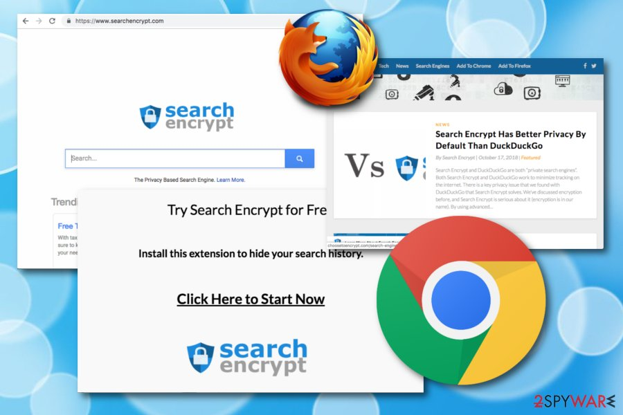 Search encrypt fake search engine