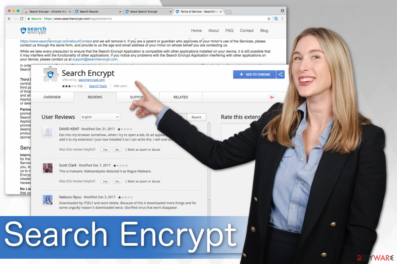 Search Encrypt potentially unwanted program