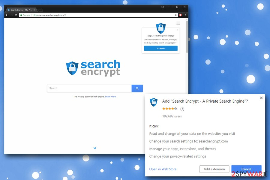 Search Encrypt browser hijacker