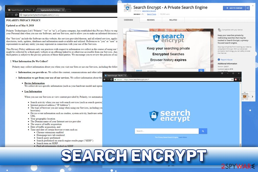Search Encrypt extension