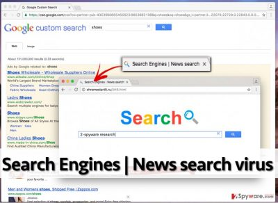 Example of Search Engines | News search virus