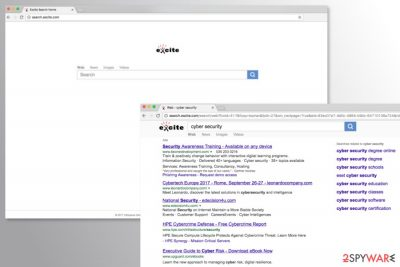 Screenshots of Search.excite.com search