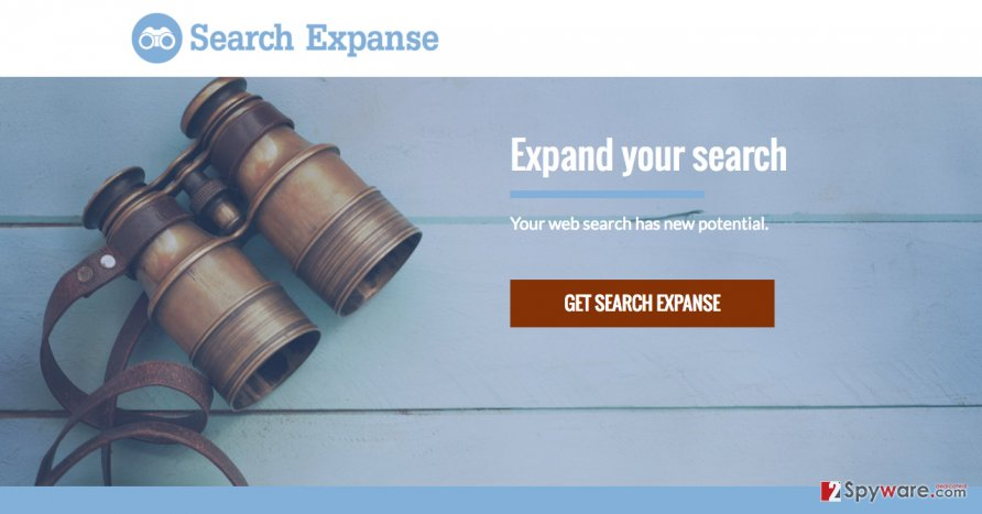 A screenshot of the Search Expanse website