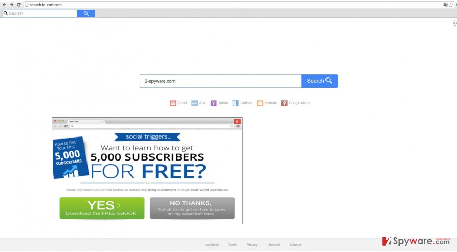 The picture showing search.fc-cmf.com virus