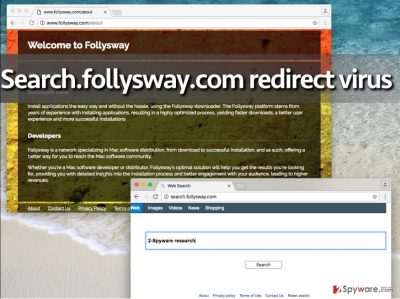 Search.follysway.com virus replaces homepage with this site