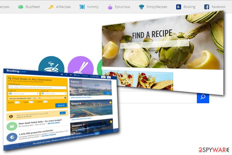 The example of Home.searchfreerecipes.com