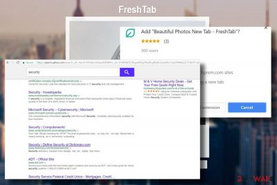 Picture of Search.freshtab.net start page