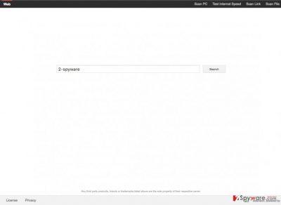 An illustration of the Search.funkymediatab.com virus