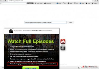 Search.funkytvtabsearch.com redirect virus