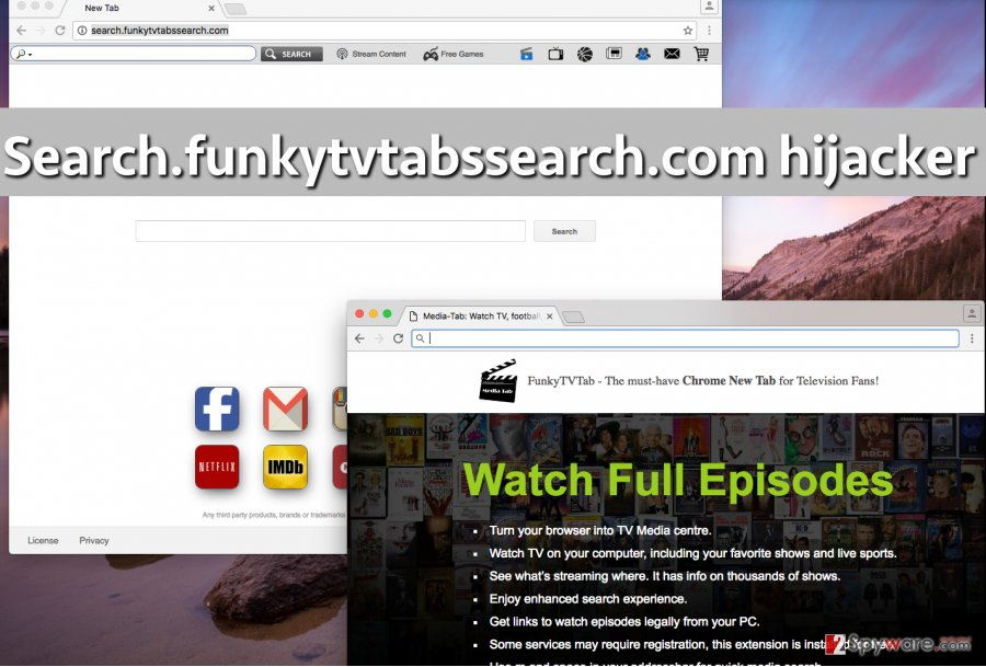 Hideous Search.funkytvtabssearch.com virus in browser takes homepage position