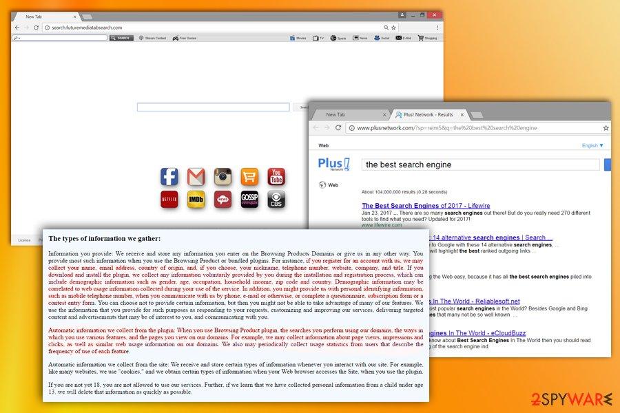 Image of Search.futuremediatabsearch.com virus