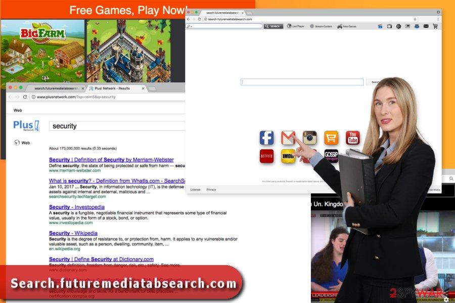 Illustration of Search.futuremediatabsearch.com virus