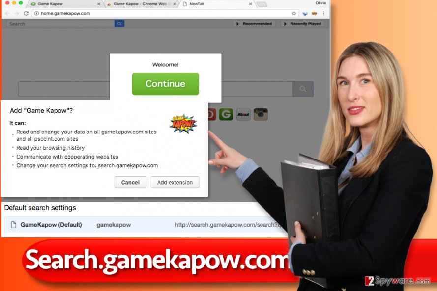 Search.gamekapow.com hijack