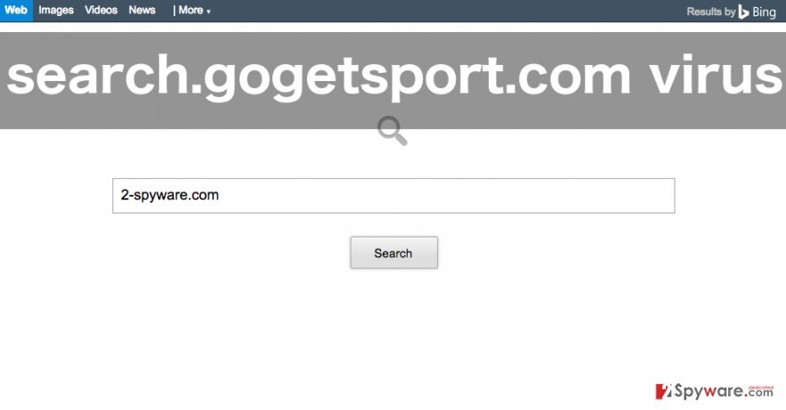 Search.gogetsport.com browser hijacker image