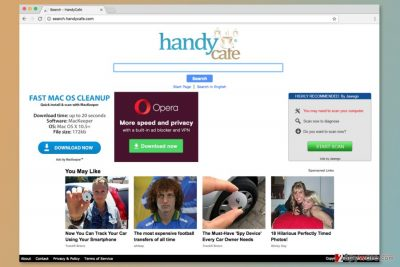 The screenshot of Search.handycafe.com