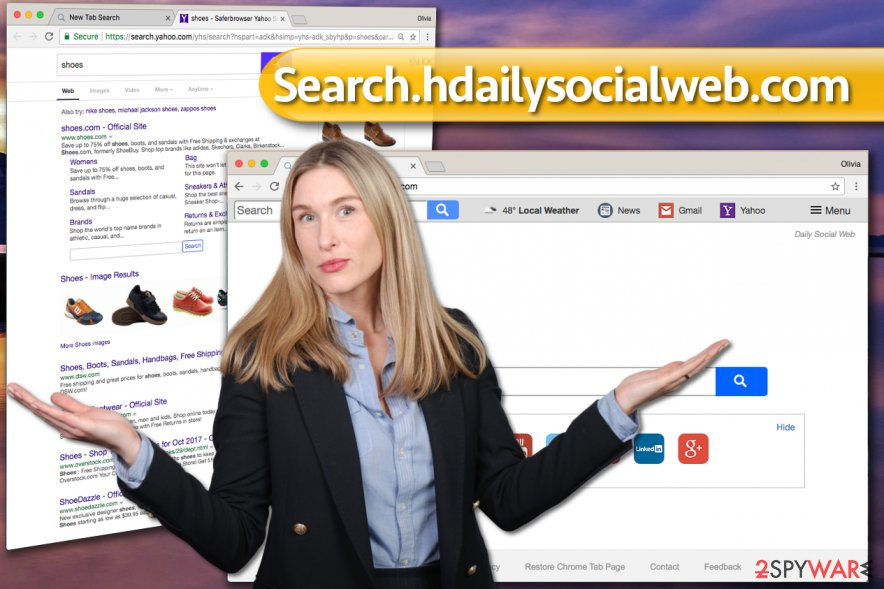 Search.hdailysocialweb.com redirect virus