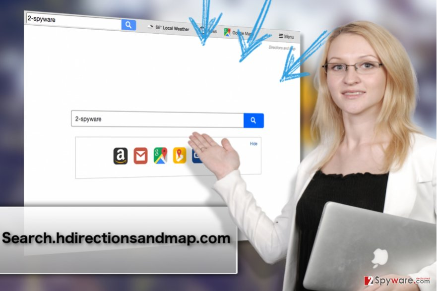 Search.hdirectionsandmap.com browser hijacker virus