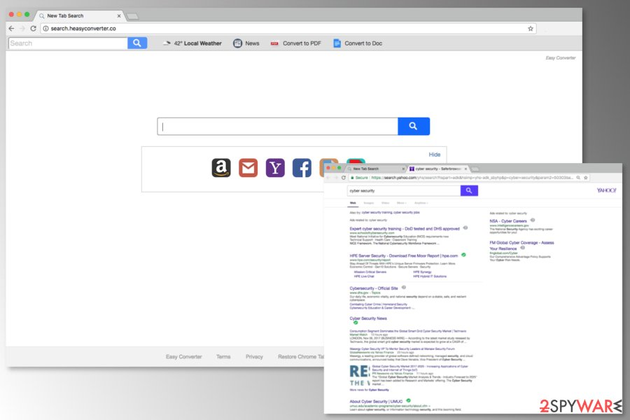 Screenshot of Search.heasyconverter.co search