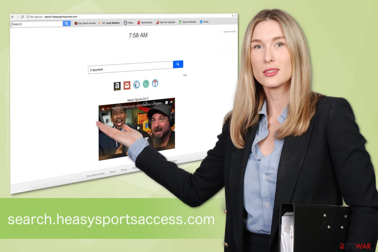 Search.heasysportsaccess.com virus