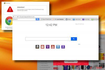 Search.heasytofindforms.com browser hijacker