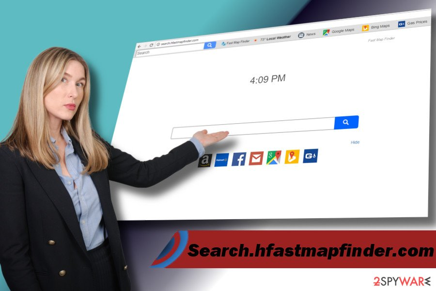 Search.hfastmapfinder.com browser hijacker