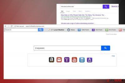 Showing Search.hfreeformsnow.com hijack