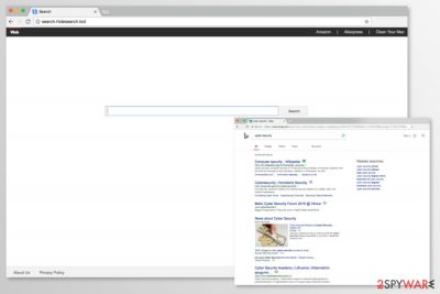 Image of Search.hidesearch.bid virus