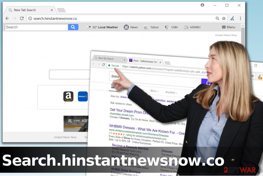 Search.hinstantnewsnow.co browser redirect virus