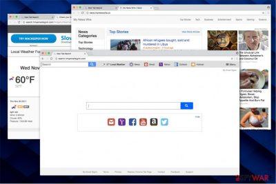Search.hmyemailsignin.com virus illustration