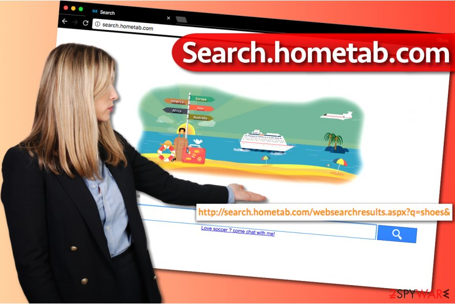 Search.hometab.com browser hijack