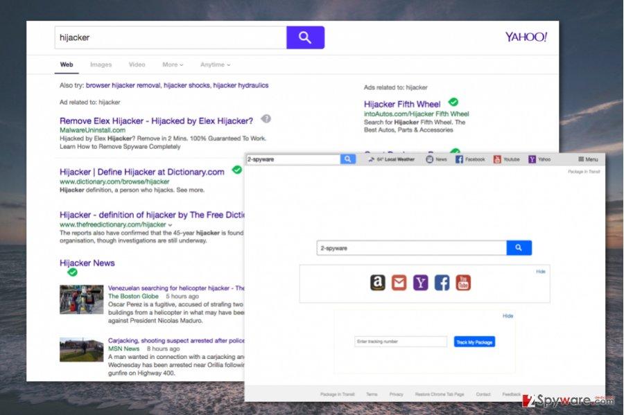 Search.hpackageintransit.com virus