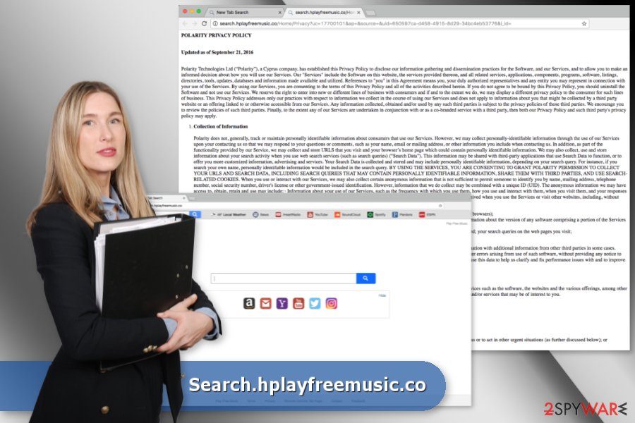 The picture of Search.hplayfreemusic.co virus