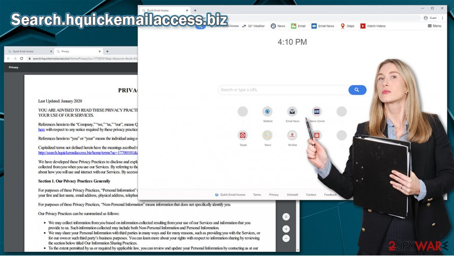 Search.hquickemailaccess.biz hijack