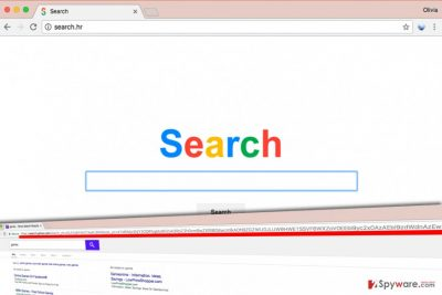 Search.hr virus presents modified search results