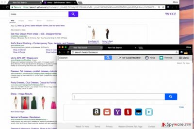 Screenshot of Search.hwatchtvnow.co search engine