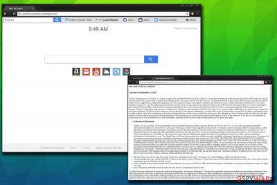 Search.hweatherforecastfinders.com virus