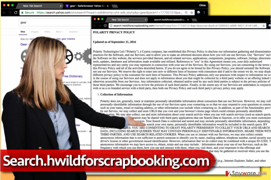 Search.hwildforscrapbooking.com hijack