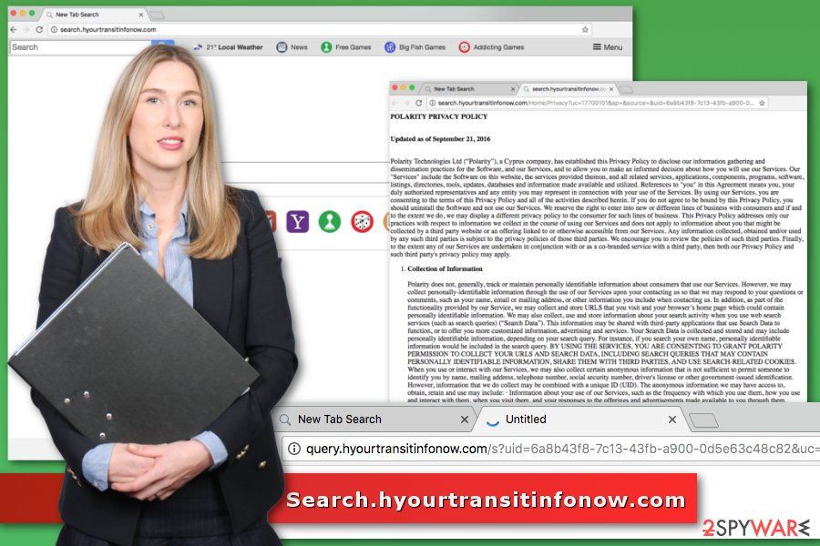Image of Search.hyourtransitinfonow.com virus