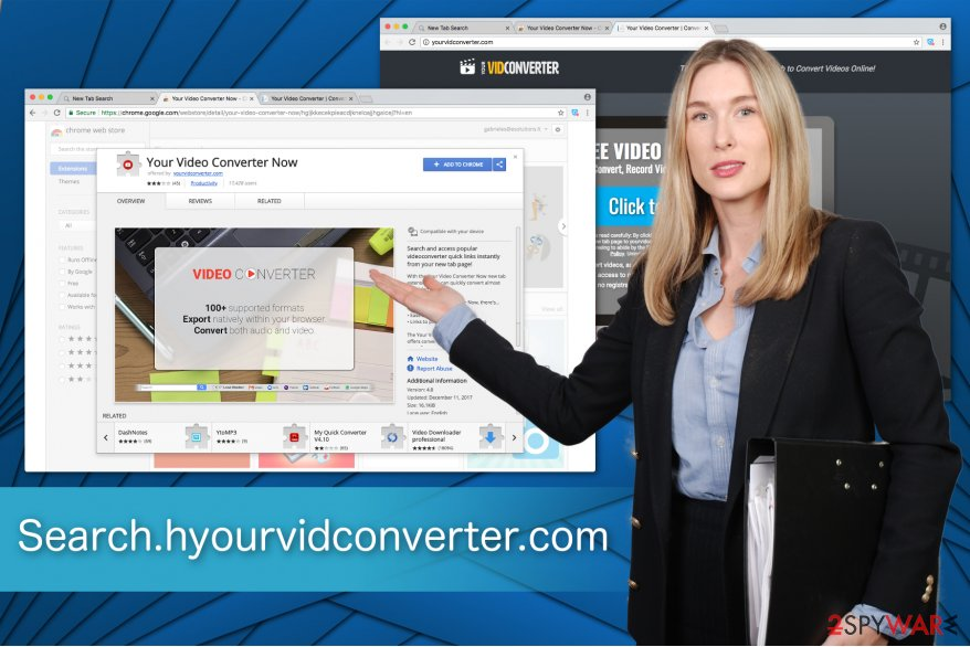 The illustration of Search.yourvidconverter.com virus