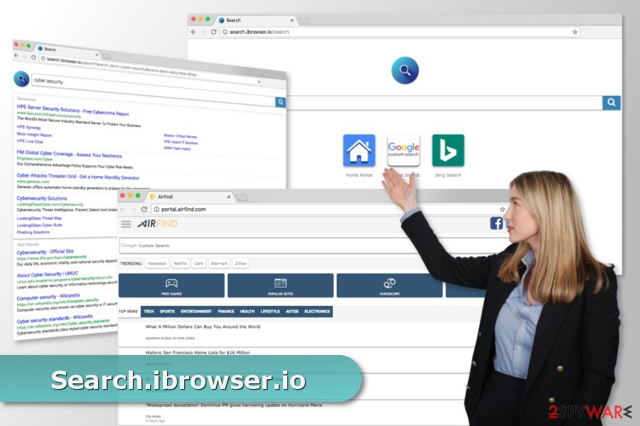 The picture of Search.ibrowser.io virus