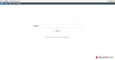 An image of search.inkcamel.com virus website