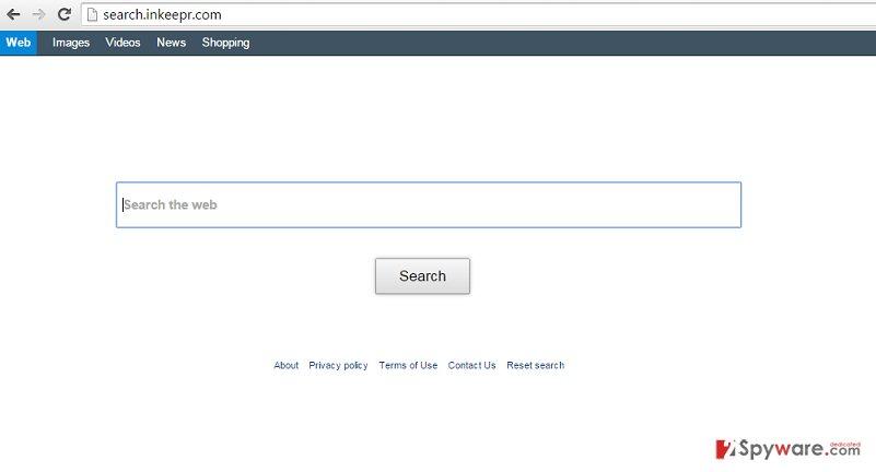 Search.inkeepr.com redirect